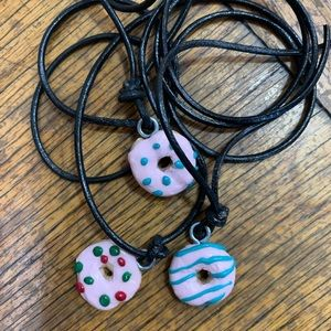 Donut pendants from clay